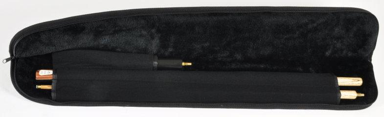 Peradon Two Piece Black Full-Zip Case (Open)