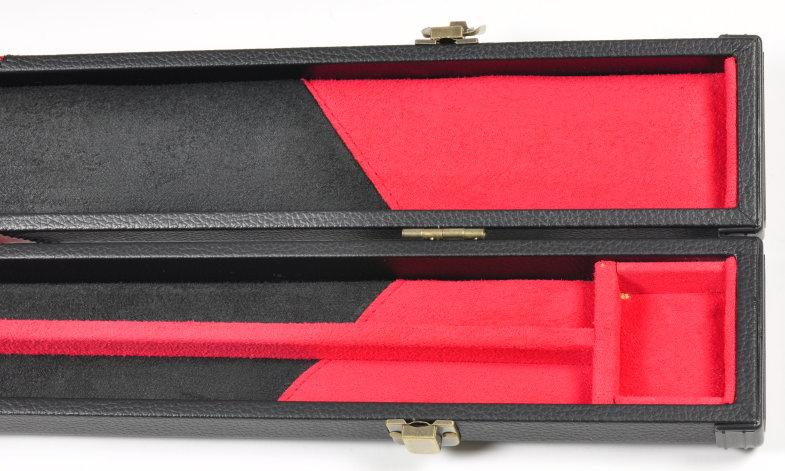 Peradon Three-Quarter Black/Red Arrow Patterned Leather Effect Case (Close Up, Open)