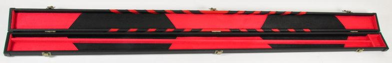 Peradon Three-Quarter Black/Red Arrow Patterned Leather Effect Case (Open)