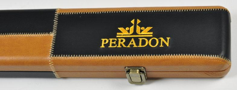 Peradon Three-Quarter Brown Patchwork Leather Effect Case (Close Up, Closed)