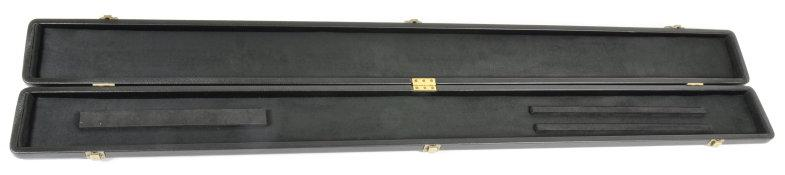 Peradon Three-Quarter Black Leather Effect Case (Wide) (Open)