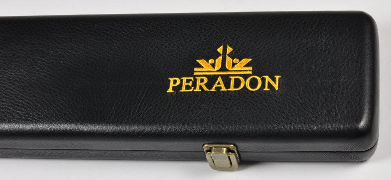 Peradon Three-Quarter Black Leather Effect Case (Wide) (Close Up, Closed)