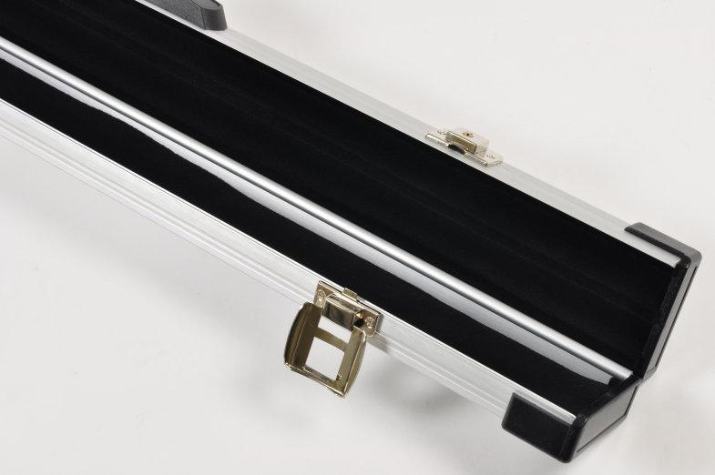 Peradon two-piece aluminium case (close up, open)