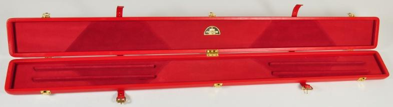 Peradon Three-Quarter Red Cue Case (Open)