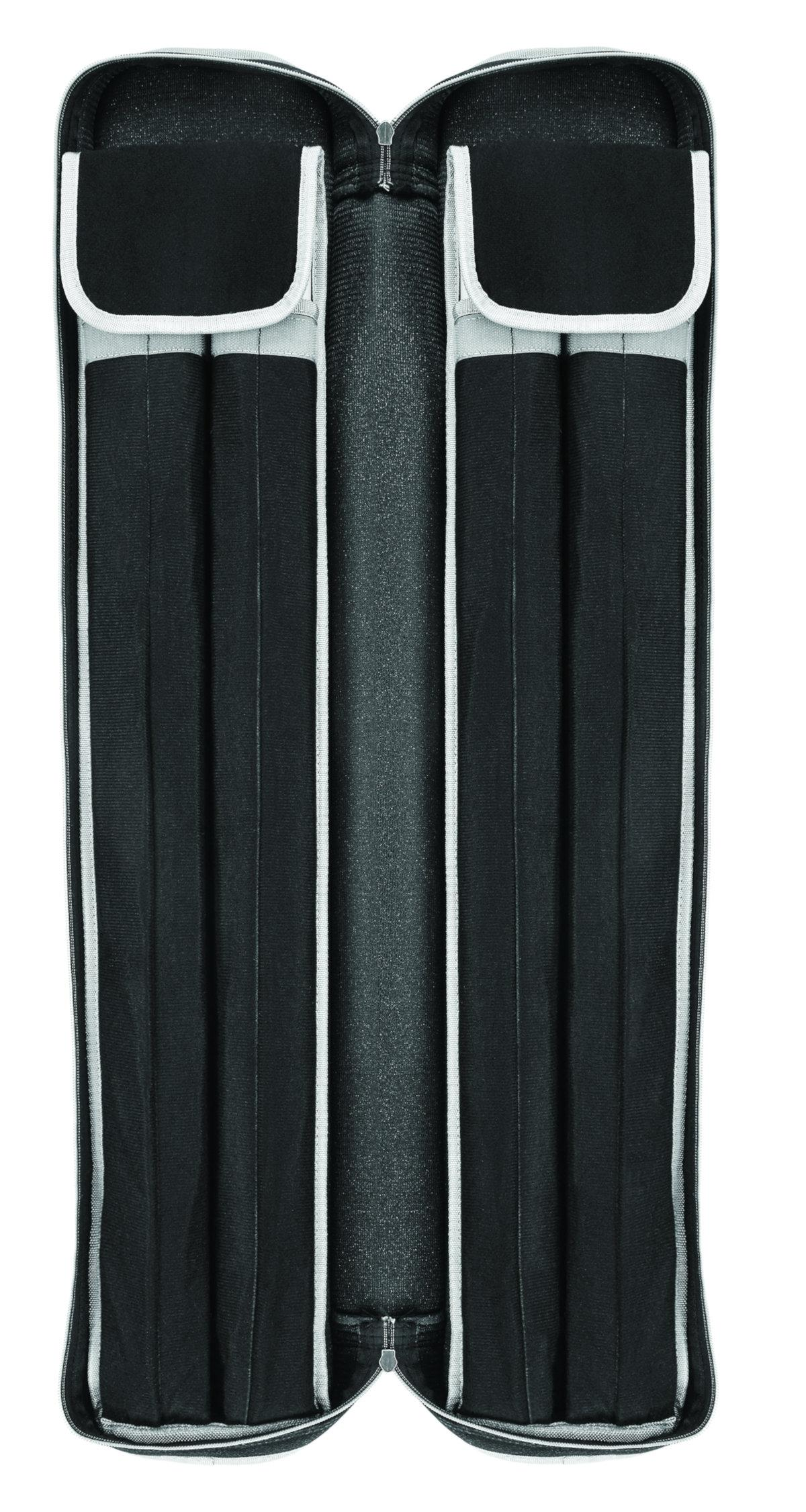 Powerglide PU American Pool Cue Case (Holds 4 Cues) (Open)