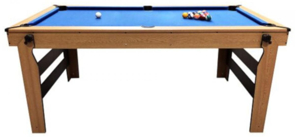 BCE 6ft Rolling Lay Flat Pool Table  (BLF-6, Side)