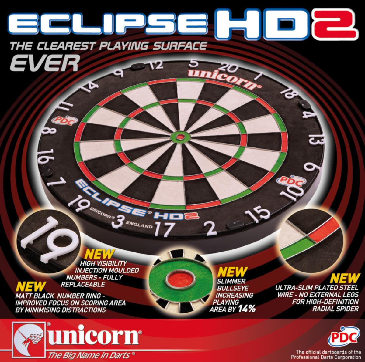 Unicorn Eclipse HD2 Dartboard (Box)