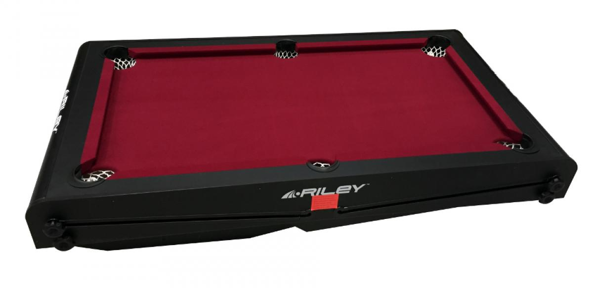 Riley 5ft 'W' Leg Folding Pool Table (PTW-5, Folded)