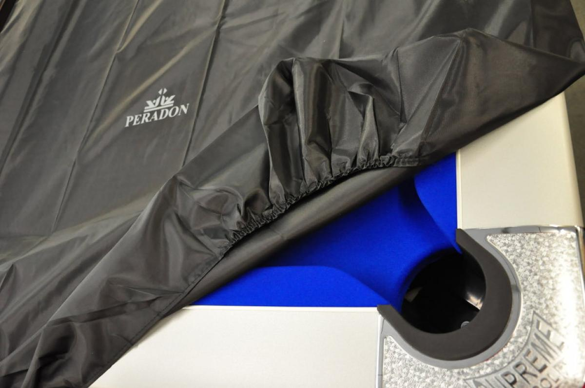 Peradon Black Fitted Table Cover (in use)