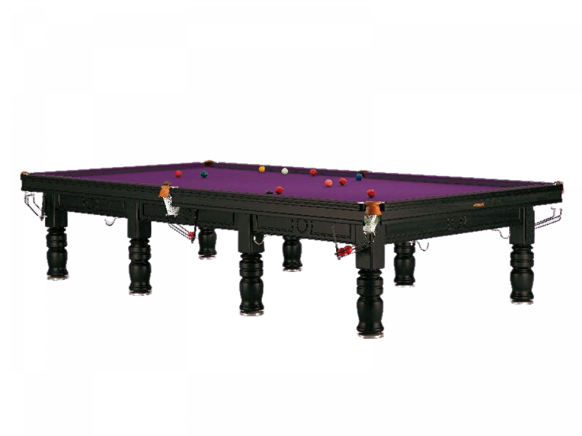 Sam Leisure Tagora Snooker Table(Black with Purple Cloth)