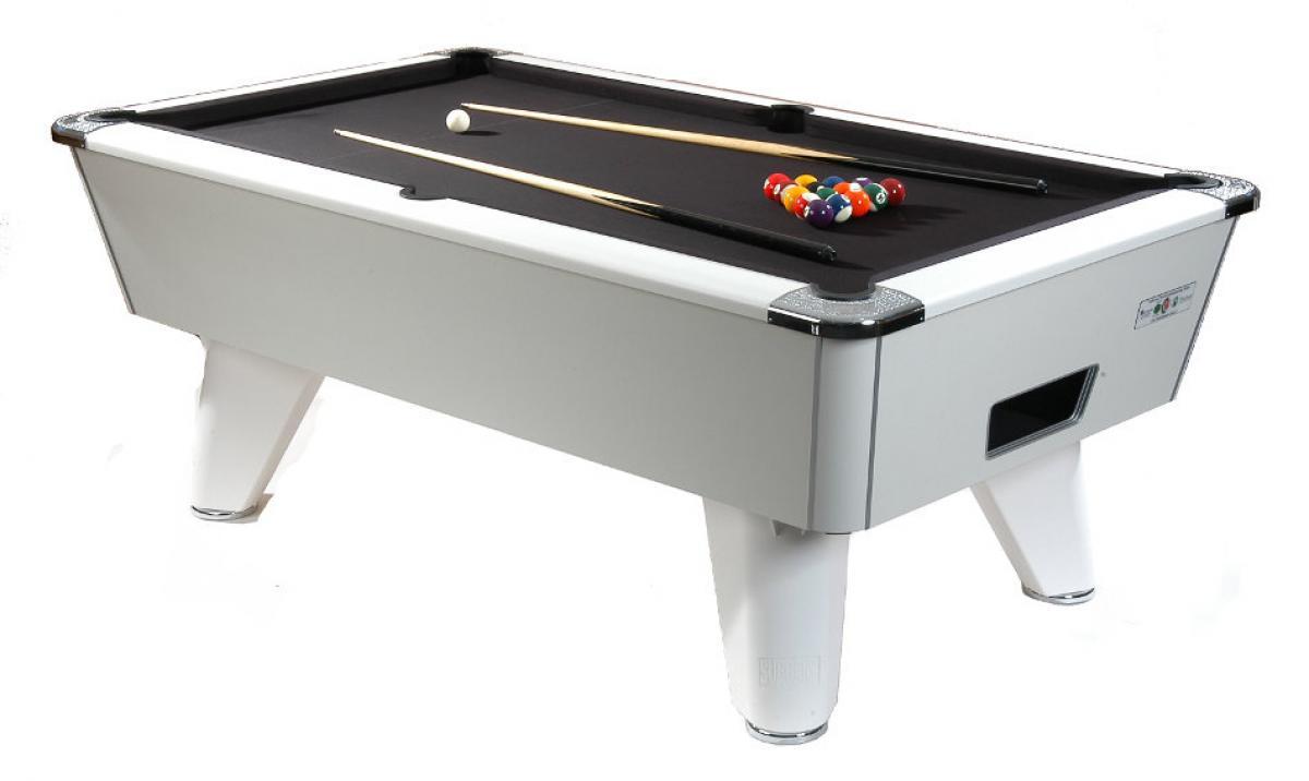 Supreme Pool Winner Pool Table White - White billiard table
