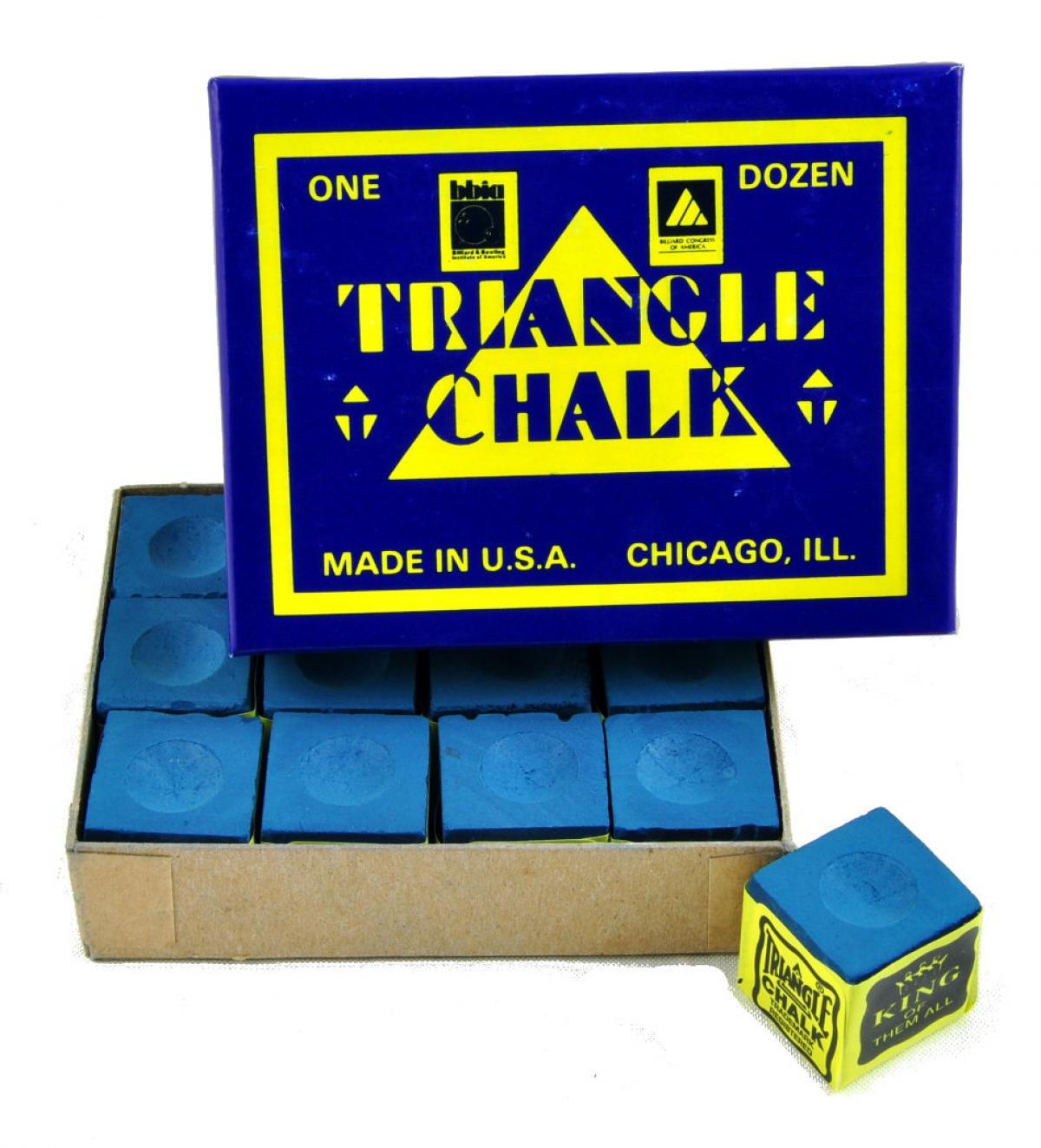 Tweeten Triangle Chalk Dozen Cubes Blue